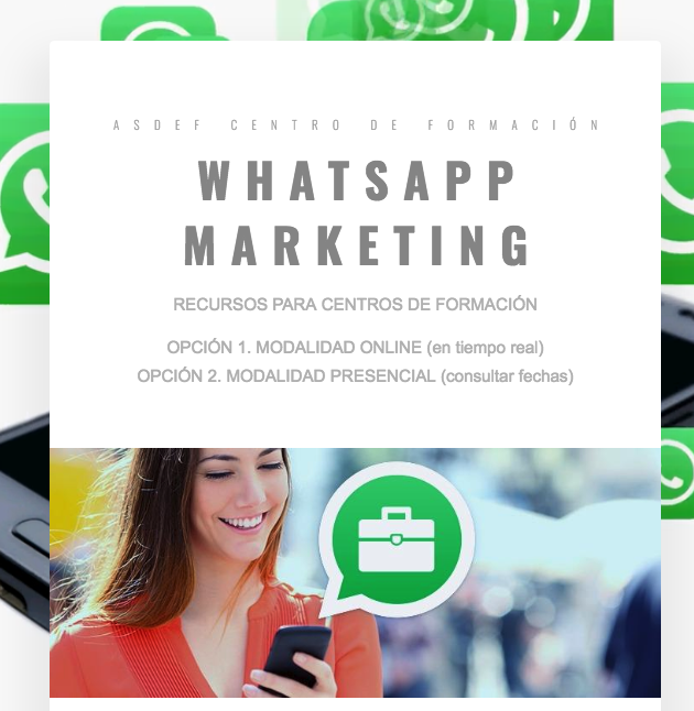 WhatsApp Marketing Centros Formación
